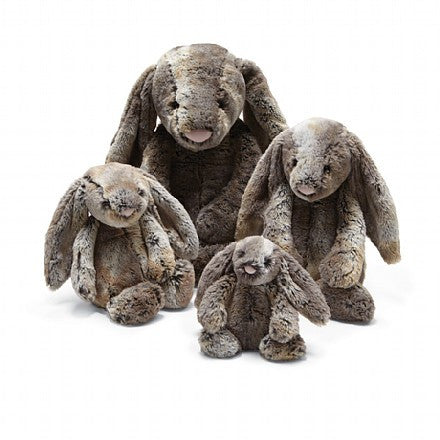 jellycat bashful woodland babe bunny small medium large huge best children's soft toys safe for babies popular plushies softest cuddle high quality comfort item suitable from birth london u.k. Baby shower gift pregnancy rabbit shop local support small business