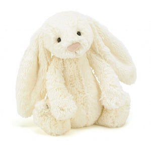 jellycat bashful Creme cream bunny small medium large huge best children's soft toys animals safe for babies popular plushies softest cuddle high quality comfort item suitable from birth london u.k. Baby shower gift pregnancy white ivory off-white eggshell rabbit shop local support small business