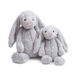 jellycat bashful Grey bunny small medium large huge best children's soft toys animals safe for babies popular plushies softest cuddle high quality comfort item suitable from birth london u.k. Baby shower gift pregnancy gray rabbit shop local support small business