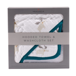 Hooded Towel and Washcloth Set - Various Prints | Newcastle Classics