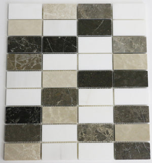Marble Blended Mosaic Tile in Brown
