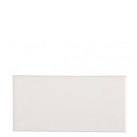 Waterworks Cottage Field Tile 3 x 6 Bullnose Single (Long) in Dover White Matte