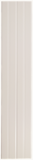 "Waterworks Cottage Decorative Field Tile Wainscot Plank 6"" x 30"" in Dover White Glossy Solid"