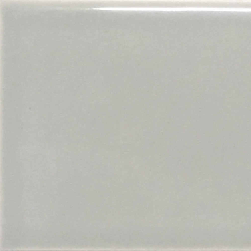"Waterworks Architectonics Handmade Field Tile 6"" x 6"" Bullnose Corner in Dove Glossy Solid"