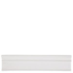 "Waterworks Cottage Batten Rail 2 3/4"" x 12"" in Dover White Glossy Solid"