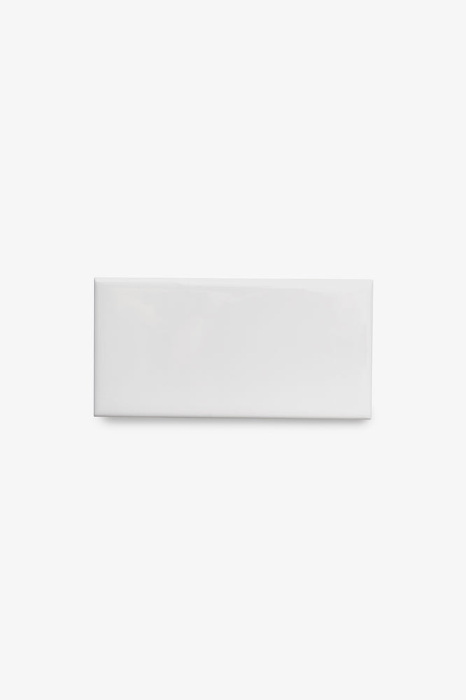 Waterworks Campus Field Tile 3 x 6 Bullnose Corner (Right) in White Glossy Solid