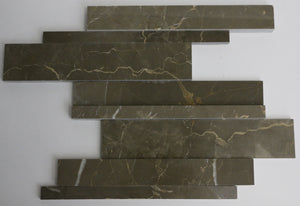 Marble Mosaic Tile in Olive Green