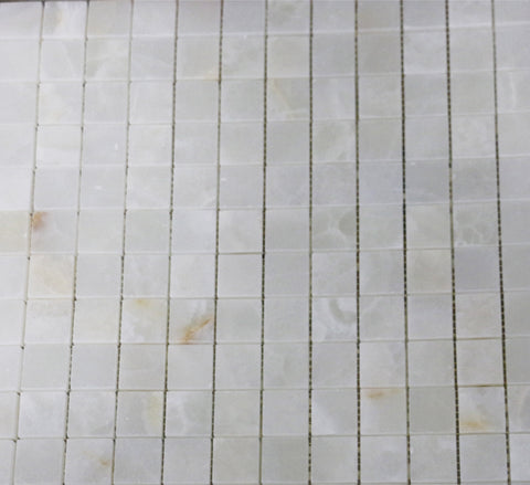 Waterworks Keystone Stacked Mosaic in White