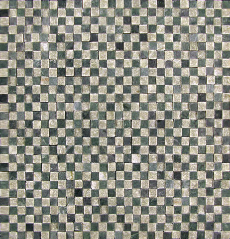 Stone Partnership Checkered 3/8 Mosaic in Green