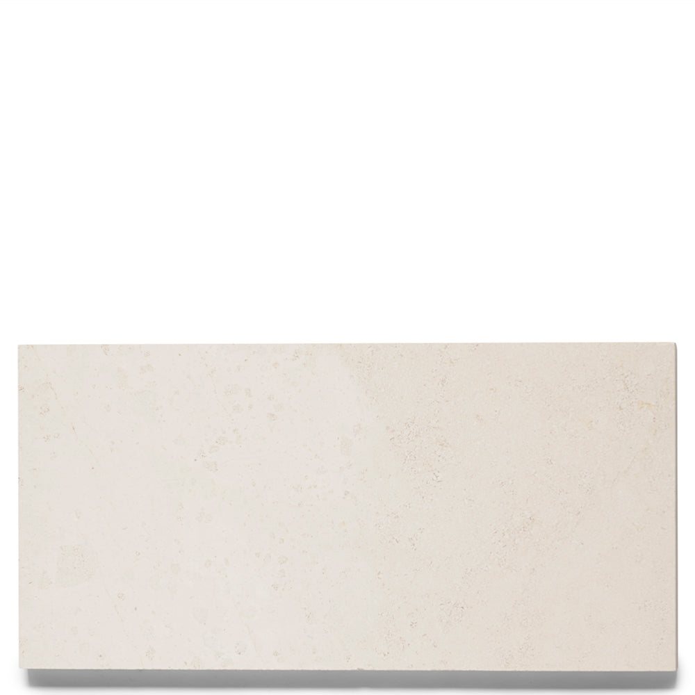 "Waterworks Keystone Field Tile 8"" x 16"" x 5/8"" in Crema D'Orcia Honed"