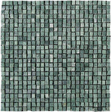 "Stone Partnership 3/8"" Handclipped Mosaic in Green"