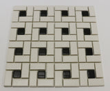 Stone Partnership Black Dot Tumbled Stone Mosaic