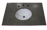 Waterworks Keystone Soap Stone Slab with Porcelain Sink in Gray