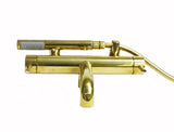 Waterworks Flyte Wall Mounted Tub Faucet With Handshower in Unlacquered Brass