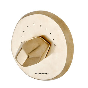 Waterworks Isla Thermostatic Control Valve Trim in Unlacquered Brass