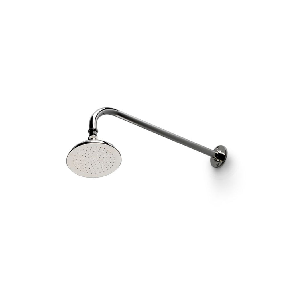 "Waterworks Easton Classic 6"" Shower Rose with 17"" Shower Arm and Flange in Nickel"