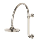 Waterworks Dash Gooseneck Wall Mounted Shower Arm and Flange ONLY in Pewter