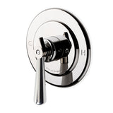 Waterworks Universal Round Pressure Balance with Diverter Trim with Metal Lever Handle in Chrome