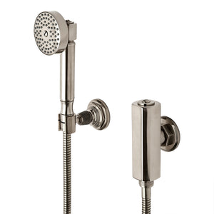 Waterworks RW Atlas Handshower on Hook with Metal Handle in Burnished Nickel