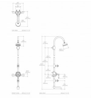 Waterworks Etoile Exposed Thermostatic System in Chrome