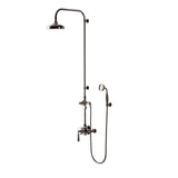 "Waterworks Easton Classic Exposed Thermostatic System with 8"" Shower Rose with Oak Lever Handle in Matte Nickel, 2.5gpm"