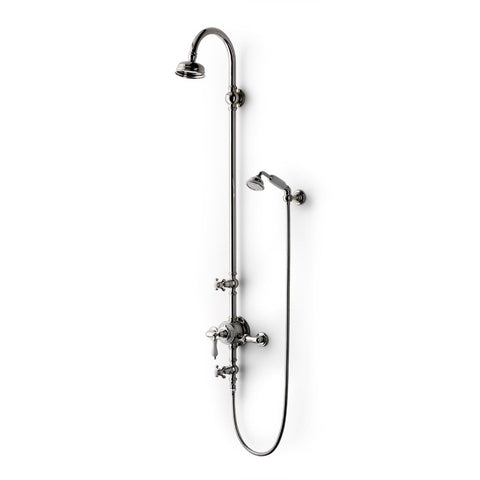 "Etoile Exposed Thermostatic System 4 1/2"" Shower Rose in Nickel"