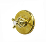 Waterworks Elsa Thermostatic Control Valve Trim in Unlacquered Brass
