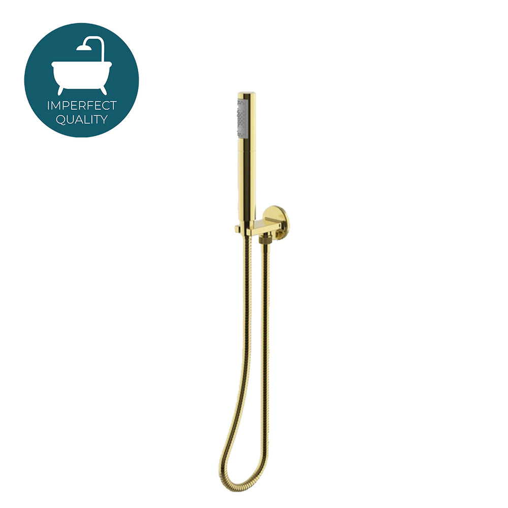 Waterworks Formwork Handshower On Hook in Unlacquered Brass