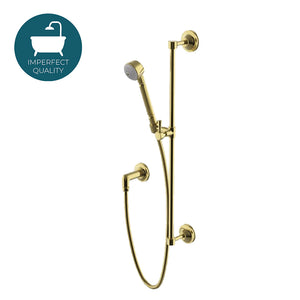 Waterworks Transit Handshower On Bar in Unlacquered Brass