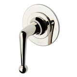 Dash Three Way Thermostatic Diverter Valve Trim with Roman Numerals and Metal Lever Handle in Burnished Brass