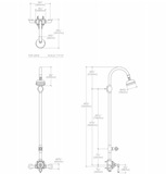 Waterworks Etoile Exposed Thermostatic System in Matte Nickel