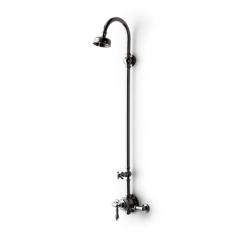 Waterworks Etoile Exposed Thermostatic System Shower Rose & Tub Filler Lever Handles in Nickel
