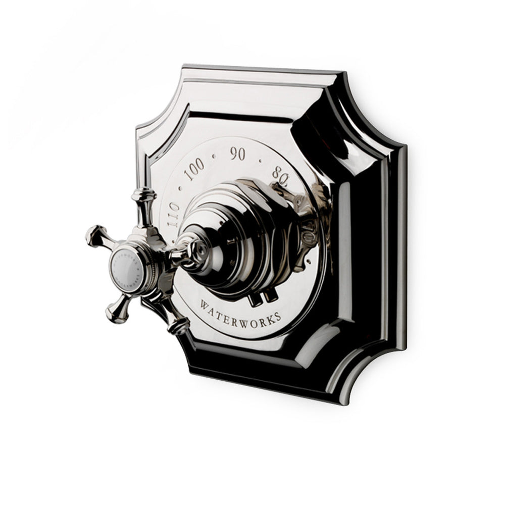 Waterworks Amelie Thermostatic Control Valve Trim in Chrome