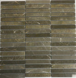 Marble Stacked Mosaic in Olive Green