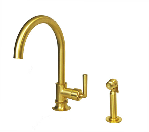 Gold Kitchen Faucet. Kitchen With Gold Faucet Mint Cabinets Marble ...