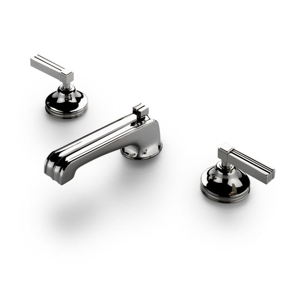 Waterworks Boulevard Bathroom Faucet with Lever Handles in Matte Gold