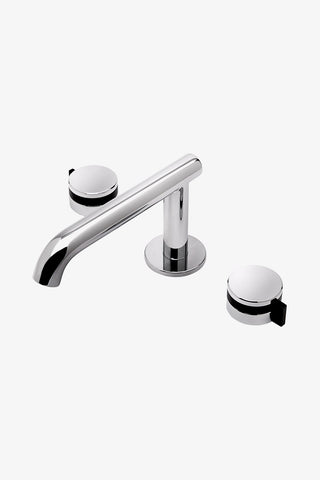 Waterworks Decibel Low Profile Deck Mounted Bathroom Faucet in Chrome