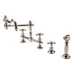 Waterworks Julia Bridge Articulated Kitchen Faucet and Spray in Matte Nickel