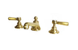 Waterworks Astoria Deck Mounted Bathroom Faucet in Brushed Gold