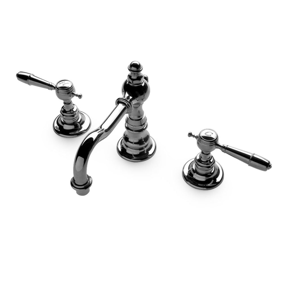 Waterworks Julia High Profile Bathroom Faucet with Metal Lever Handles in Unlacquered Brass