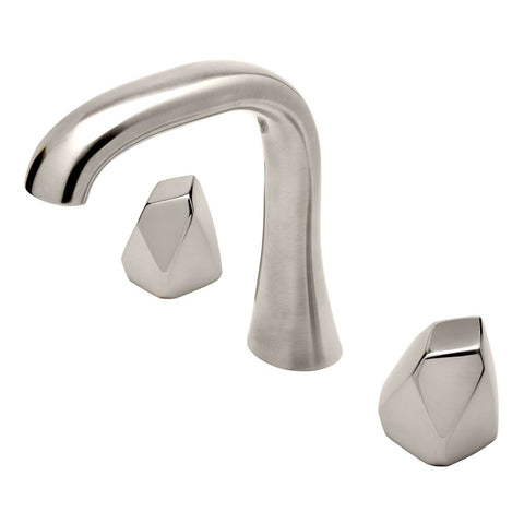 Waterworks Isla Bathroom Faucet with Metal Geode Handles in Burnished Nickel