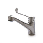Waterworks Odeon Low Profile Kitchen Faucet with Pull-Out Spray in Matte Nickel