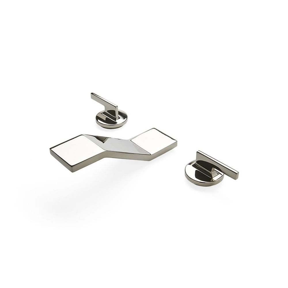Waterworks Formwork Bathroom Faucet in Burnished Brass