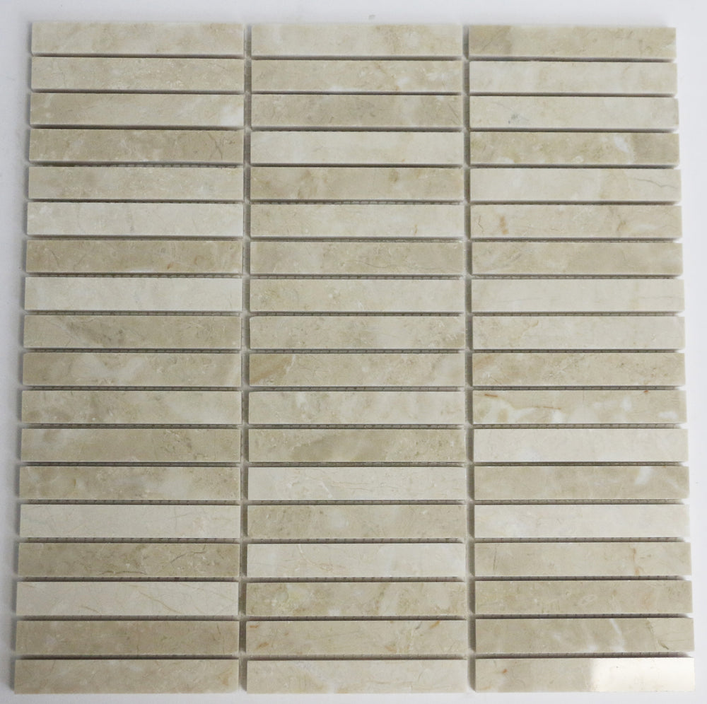 Marble Stacked Mosaic in Beige