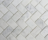 Marble Herringbone Weave in Carrara