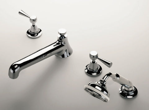 Waterworks Beacon Classic Low Profile Tub Faucet in Nickel