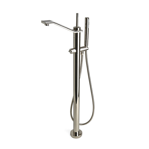 Formwork Tub Faucet with Handshower in Nickel