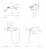 Flyte Wall Mounted Tub Filler in Nickel