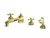 Waterworks Aero Retro Tub Faucet in Unlacquered Brass
