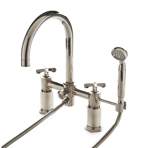 Waterworks Henry Exposed Tub Faucet with Handshower in Chrome ...